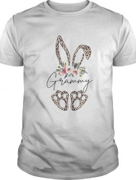 Grammy Bunny Leopard Hippie Flowers Easter Day shirt