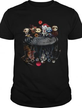 Halloween Horror Characters Movies Water Mirror Reflection shirt