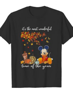 Mickey mouse it's the most wonderful time of the year leaves tree shirt