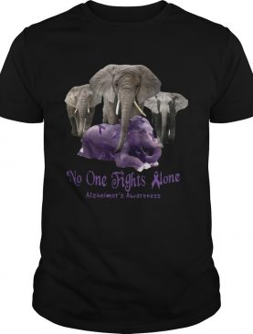 No one fights alone Alzheimers Awareness shirt