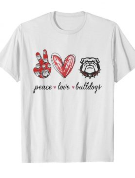 Peace Love Georgia Bulldogs football shirt