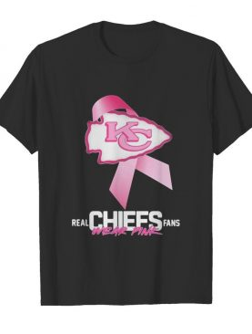 Real chiefs fans wear pink logo cancer awareness shirt