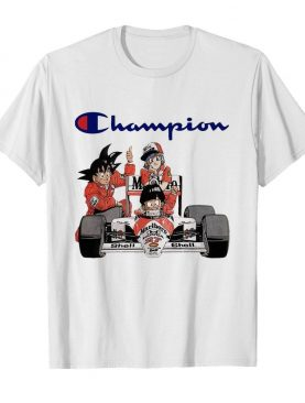 Dragonball Songoku Bulma And Gohan F1 Champion shirt