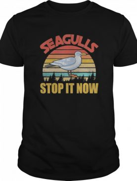 Vintage Retro Cool Seagulls Bird Lover Stop It Now shirt