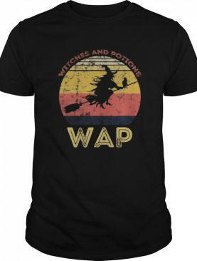 WAP Witches And Potions Retro Sunset Vintage Witch shirt