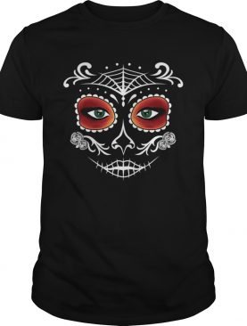 Day Of The Dead Mask Sugar Skull Halloween shirt