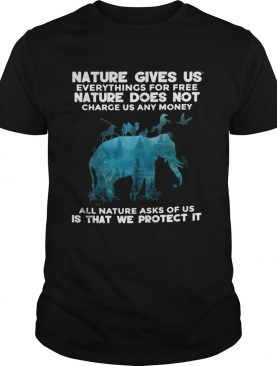 Elephant Nature Gives Us Everythings For Free Nature Does Not Charge Us Any Money All Nature Asks O