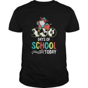 100 Days Of School Today Cow Print Face Mask Quarantine shirt