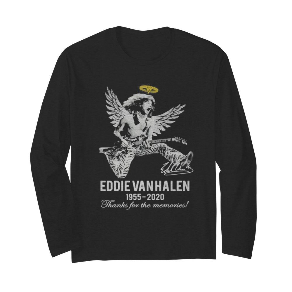 Eddie van halen king 1955 2020 thank for the memories signature  Long Sleeved T-shirt