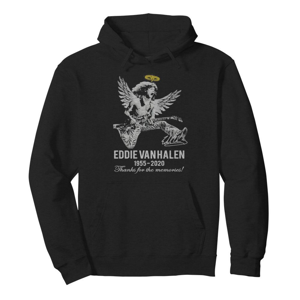 Eddie van halen king 1955 2020 thank for the memories signature  Unisex Hoodie
