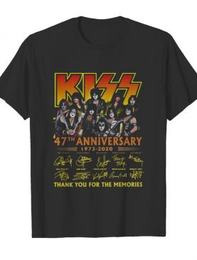 Kiss 47th Anniversary 1973-2020 Thank You For The Memories Signature shirt