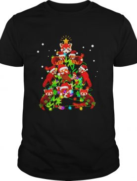 Red Panda Christmas ornament tree Merry Christmas shirt