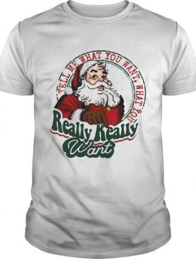 Santa Claus Tell Me What You Want What You Really Really Want shirt