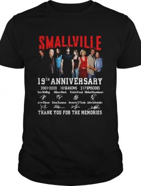 Smallville 19th Anniversary 2001 2020 Thank You For The Memories Signature shirt