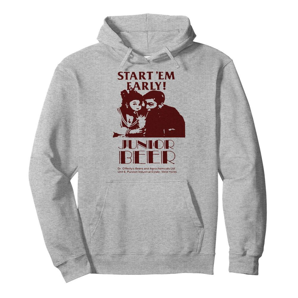 Start'em Farly Junior Beer Dr O'reilly's Beers And Agrochemicals Ltd  Unisex Hoodie