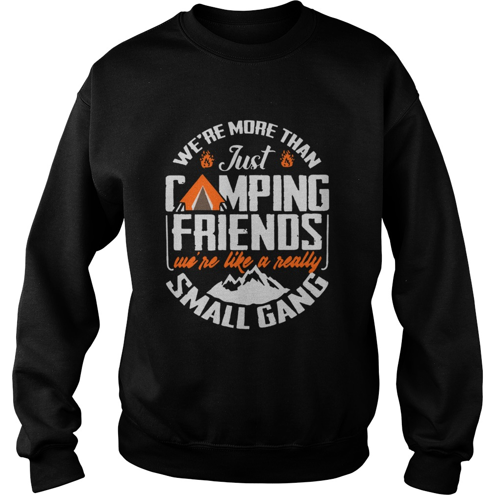 Were More Than Just Camping Friends Were Like A Really Small Gang  Sweatshirt