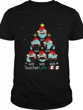 Christmas Teacher Life 2020 Sloth Wearing Mask shirt