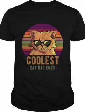 Coolest Cat Dad Ever Vintage Retro shirt