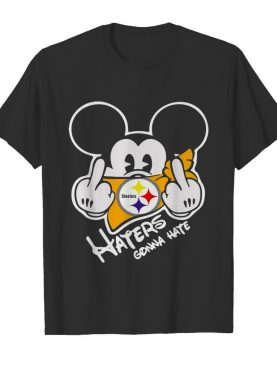 Mickey Mouse Face Mask Pittsburgh Steelers Fuck Haters Gonna Hate shirt