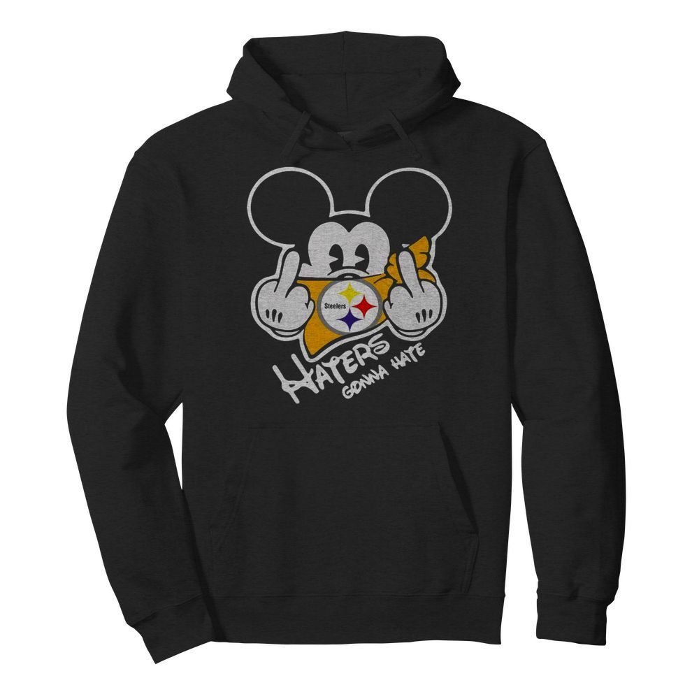 Mickey Mouse Face Mask Pittsburgh Steelers Fuck Haters Gonna Hate  Unisex Hoodie