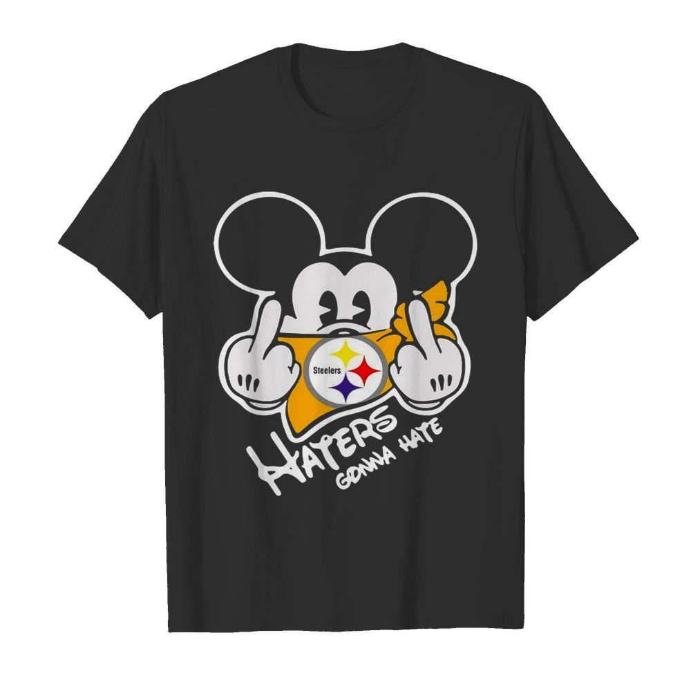 Mickey Mouse Face Mask Pittsburgh Steelers Fuck Haters Gonna Hate  Classic Men's T-shirt