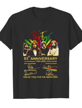Pink Floyd 55th Anniversary 1965 2020 Thank You For The Memories Signuature Birthday shirt