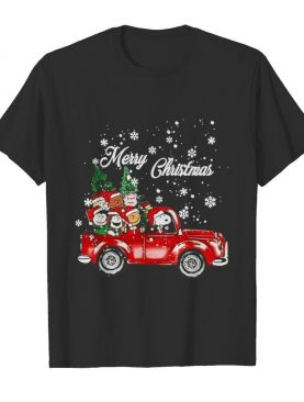 The Peanuts With Red Truck Merry Christmas shirt