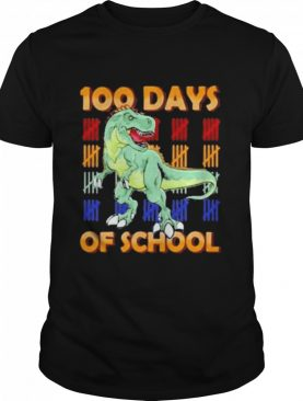 100 days of school dinosaur youth shirt